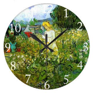 Marquerite Gachet im Garten, Vincent van Gogh. Große Wanduhr