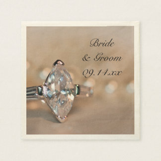 Marquis-Diamant-Verlobungs-Ring-Hochzeit Serviette