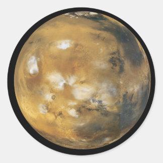 Mars!  Ein schönes Bild vom Raum.  Die NASA Runder Aufkleber