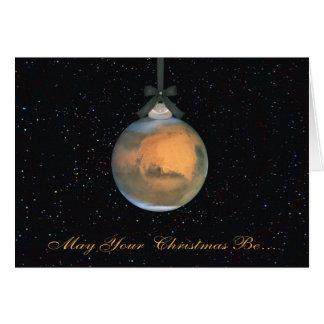 Mars-Planeten-Weihnachtsgruß-Karte Karte