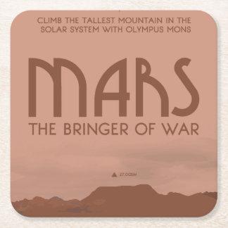 Mars-Raum-Untersetzer Rechteckiger Pappuntersetzer