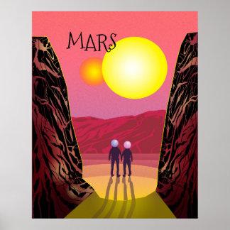 Mars-Reise-Plakat Poster