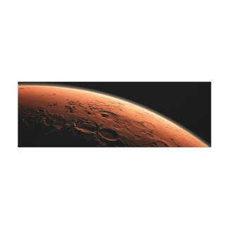 MARS-ROTER PLANET IM UNIVERSUM, MARS-LEINWAND LEINWANDDRUCK