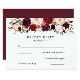 Marsala Burgunder Blumen, die UAWG Karte Wedding