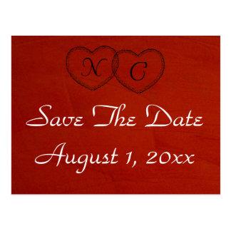 Marsala Hochrot Save the Date Postkarte