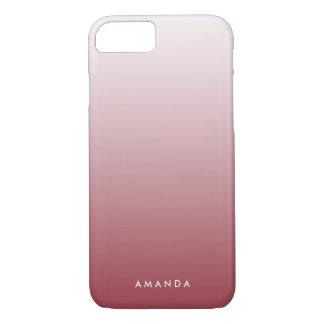 Marsala Steigung Ombre personalisiert iPhone 8/7 Hülle