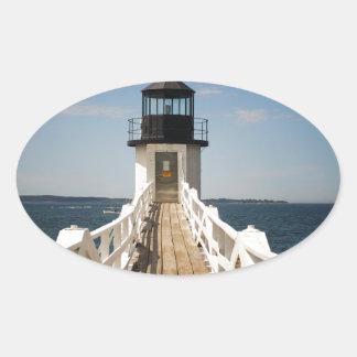 Marshall-Punkt-Leuchtturm Ovaler Aufkleber