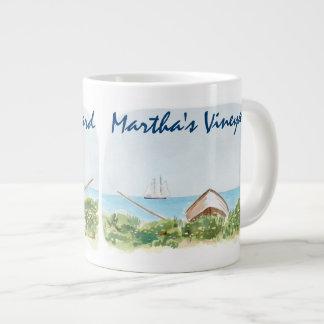 Martha's Vineyard Watercolor-Kaffee-Tasse Jumbo-Tasse