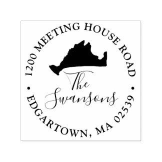 Marthas Weinberg-Massachusetts-Karten-Hochzeit Permastempel