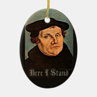 Martin Luther, hier, das ich stehe Keramik Ornament