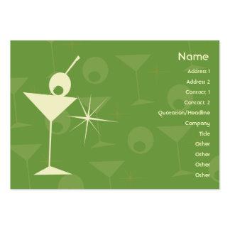 Martini blenden - molliges Mini-Visitenkarten