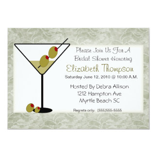 Martini-Brautparty-Einladung 12,7 X 17,8 Cm Einladungskarte