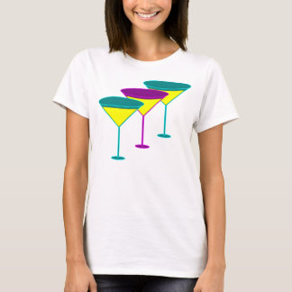 Martini-Glas-Henne-Party-Strappy Spitze T-Shirt