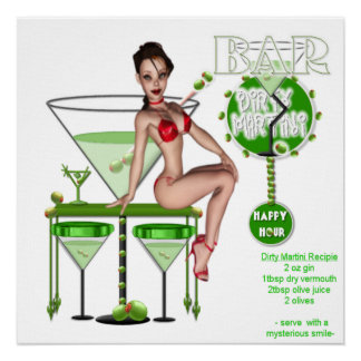 Martini sale - copie de toile posters