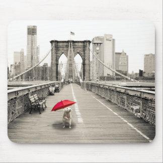 Marty Maus auf der Brooklyn-Brücken-Mausunterlage Mauspad