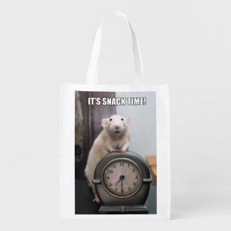 """Marty Mäuse""""es ist- Imbiss-Zeit-"""" Wiederverwendbare Einkaufstasche"""