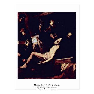 Martyrium von St Andrew durch Jusepe De Ribera Postkarte