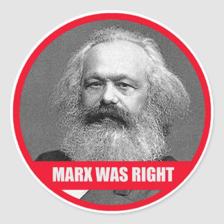 Marx hatte Recht Runder Aufkleber