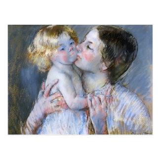 Mary Cassatt: Ein Kuss für Baby Anne (Nr. 3) Postkarte
