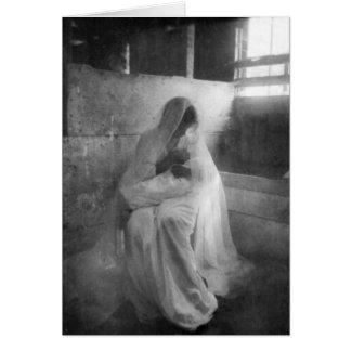 Mary, die Jesus in der stabilen Anmerkungs-Karte Mitteilungskarte