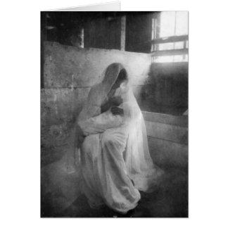 Mary, die Jesus in der stabilen Gruß-Karte hält Karte
