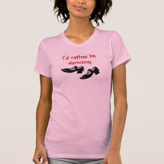 Mary Janes, den Tanz Identifikation beschuht, eher T-Shirt