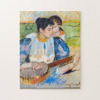Mary Stevenson Cassatt - die Banjolektion - ArtPuz