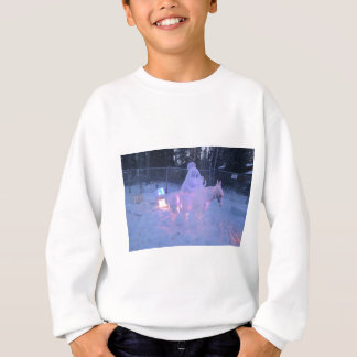 Mary-und Baby-Jesus-Nachtschnee-Winter-Skulptur Sweatshirt