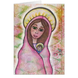 Mary-und Baby-Jesus-Weihnachtskarte Karte