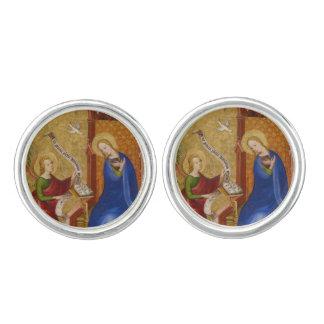 Mary und Engel der Ankündigung Manschetten Knöpfe