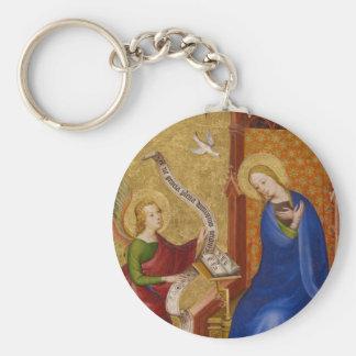 Mary und Engel der Ankündigung Schlüsselanhänger