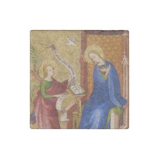 Mary und Engel der Ankündigung Steinmagnet