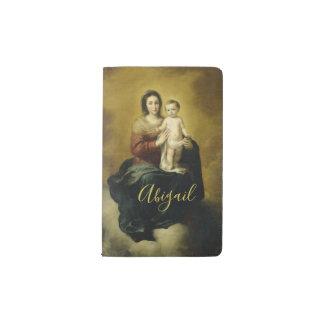 Mary und Kind, Kunst-Moleskin-Notizbuch Moleskine Taschennotizbuch