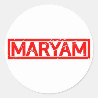 Maryam Briefmarke Runder Aufkleber