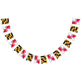 Maryland-Flaggen-Flaggen-Fahne - Wimpel-Fahne Wimpelketten