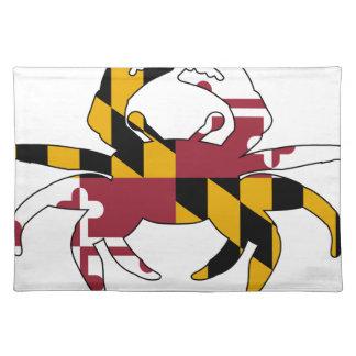 Maryland-Flaggen-Krabbe Tischset