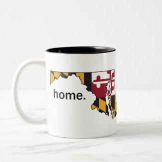 Maryland-Flaggen-Zuhause-Tasse Zweifarbige Tasse