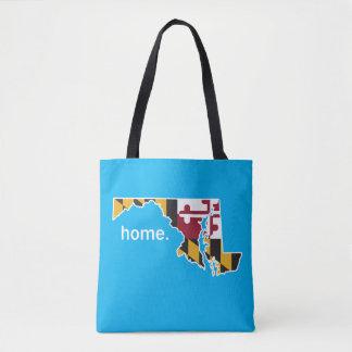 Maryland-Flaggen-Zuhausetasche - Blau Tasche