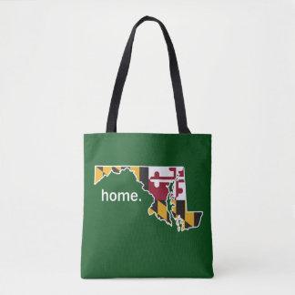 Maryland-Flaggen-Zuhausetasche - Waldgrün Tasche