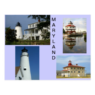 Maryland-Leuchttürme Postkarte