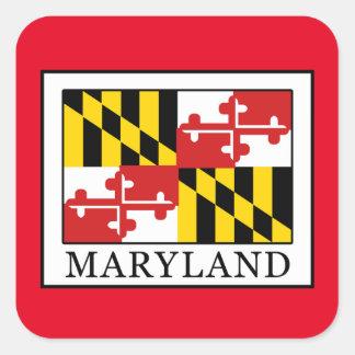 Maryland Quadratischer Aufkleber