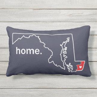 Maryland-Zuhause-Landkreiskissen - Worcester Co. Kissen Für Draußen