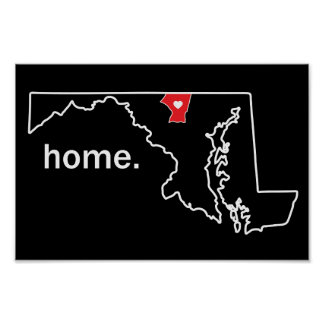Maryland-Zuhause-Landkreisplakat - Carroll Co. Poster