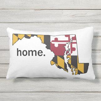 Marylandflaggen-/-Staats-Zuhausekissen - Weiß Lendenkissen