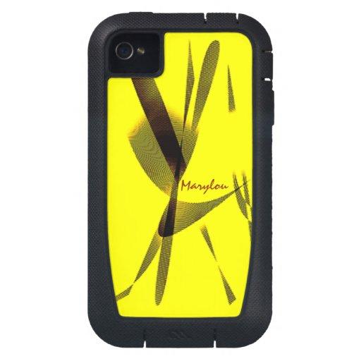 Marylous iphone 4 gelber Kasten iPhone 4 Hülle