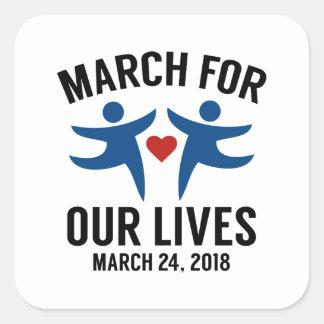 März für unsere Leben Quadratischer Aufkleber