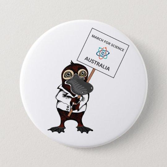 März für Wissenschaft Australien - Platypus - Runder Button 7,6 Cm