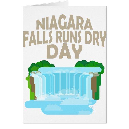 März neunundzwanzigster - Niagara Falls lässt Grußkarte