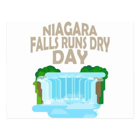 März neunundzwanzigster - Niagara Falls lässt Postkarte