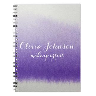 Maskenbildner-Aquarell-Lavendel Notizblock